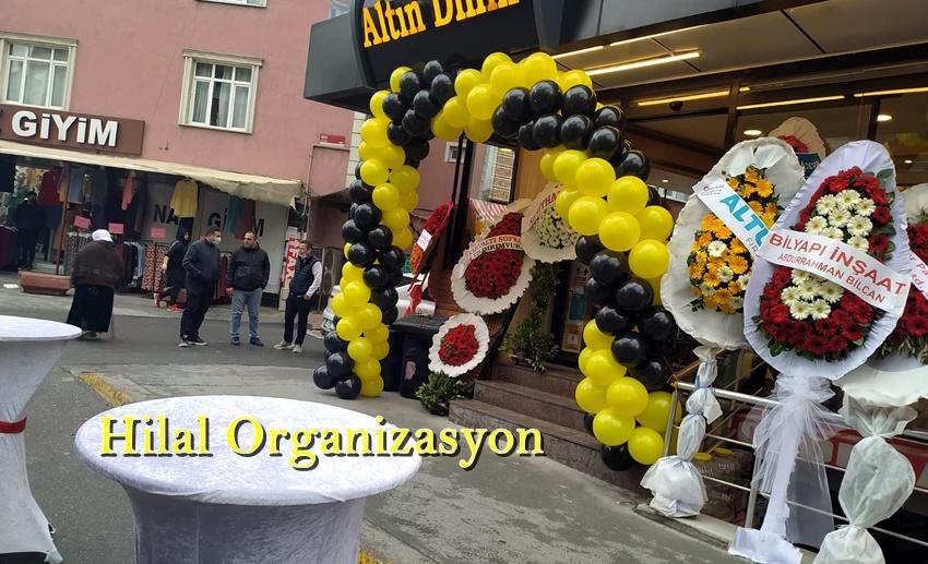 dükkan açılışı balon süsleme tasarım