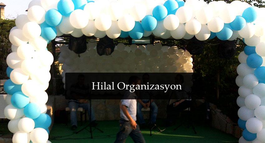 sünnet organizasyon balon süslemesi mavi beyaz
