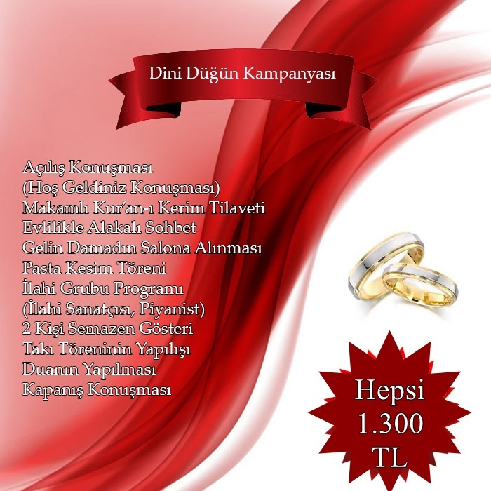 islami düğün organizasyon kampanyası